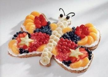 """Bērnu kūka """"Pavasara tauriņš"""""""