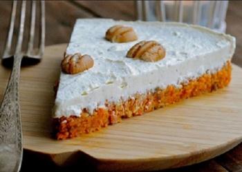 Siera kūka ar burkānu – riekstu pamatni