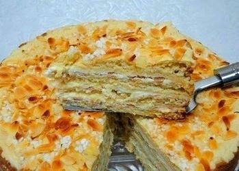 Ātri pagatavojama kūka ar iebiezināto pienu