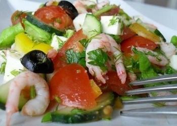 """Garneļu salāti """"Vieglums"""""""