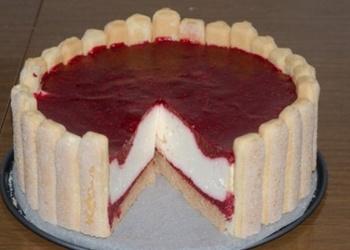 Viegla un vasarīga paniņu krēma – aveņu kūka