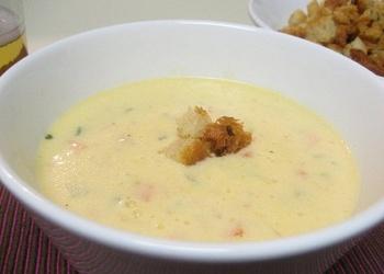 Putraimu piena zupa ar biezpienu
