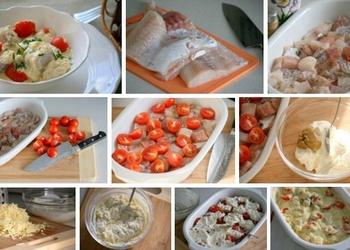 Krāsnī cepta menca ar sieru un tomātiem