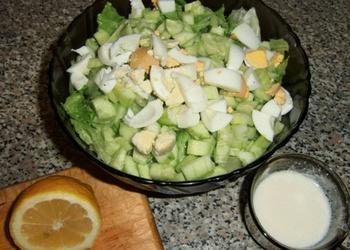 Gurķu salāti ar olu