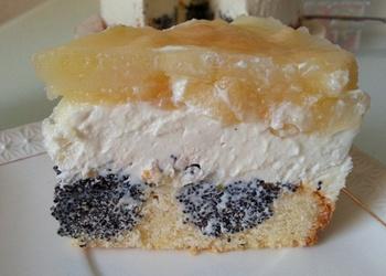 Magoņu – ābolu torte