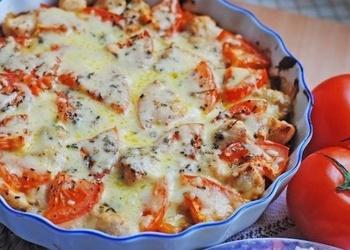 Cepta vistas fileja ar dārzeņiem un sieru