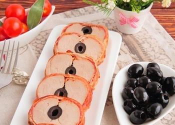 Cūkgaļa ingvera marinādē ar olīvām