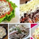 Piecas salātu receptes svētku galdam