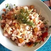 Pupiņu salāti ar šķiņķi