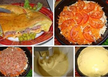Pīrāgs ar kāpostu un maltās gaļas pildījumu
