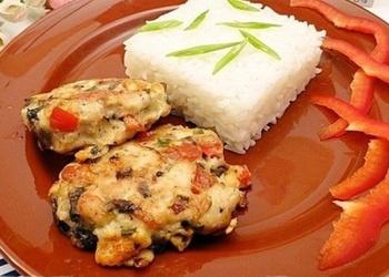 Сочные куриные котлеты с рисом за 20 минут