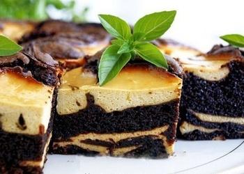 Šokolādes – biezpiena kūka ar banāniem