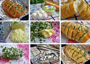 Baltmaize ar sieru un ķiplokiem