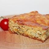 Пирог с сыром и луком