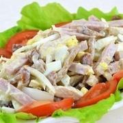 Vistas salāti ar šampinjoniem un olām