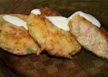 Kartupeļu stienīši ar šķiņķi