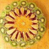 Neceptā riekstu – augļu kūka bez miltiem