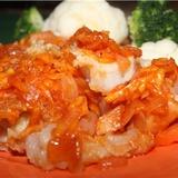 Рыба в морковно-томатном соусе