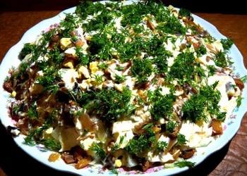 Sēņu salāti ar zivi