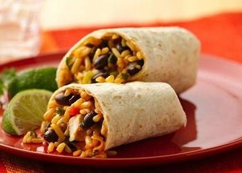 Burrito ar kukurūzu un pupiņām