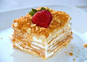 """Kārtainā torte """"Napoleons"""""""