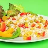 Постный рис с овощной смесью