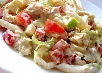 Vistas gaļas salāti ar dārzeņiem