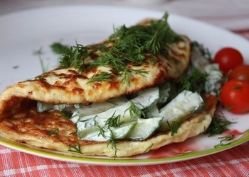 Gaļas omlete brokastīm