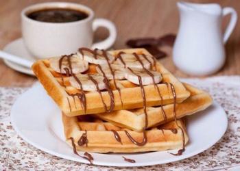 Kefīra mīklas nesaldinātas vafeles