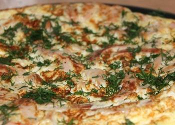 Omlete ar putraimdesu un kartupeļiem