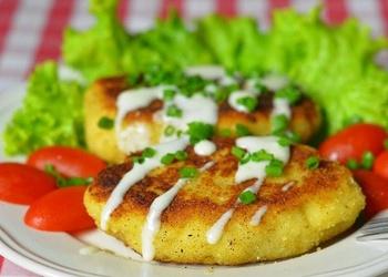 Sēņu - kartupeļu kotletes