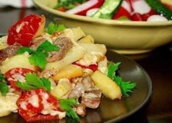 Pannā cepti kartupeļi franču gaumē