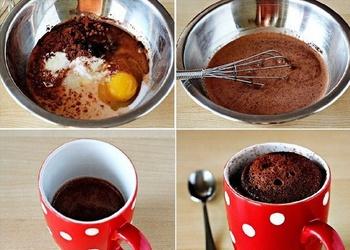 Šokolādes kēkss 5 minūtēs