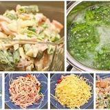 Šķiņķa salāti ar zaļajām pākšu pupiņām