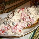Vistas filejas salāti ar sieru, sēnēm un tomātiem
