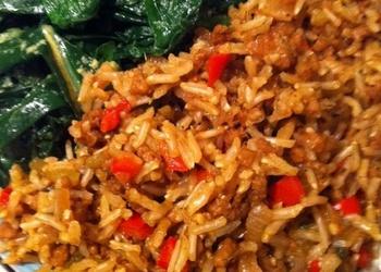 Rīsu un sēņu sautējums angļu gaumē