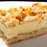 Smilšu mīklas kūka ar biezpiena – ābolu pildījumu