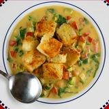 Ķiploku zupa ar olu