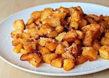 Krāsnī cepti kartupeļi ar Parmas sieru