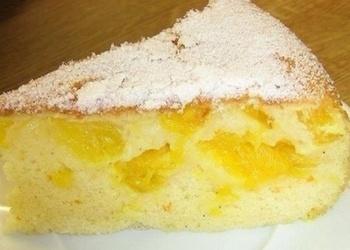 Biskvīta kūka ar apelsīniem