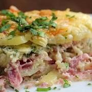 Картофель с ветчиной