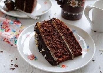Šokolādes – karameļu torte