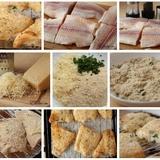 Rīvmaizē un Parmas sierā panēta zivs fileja