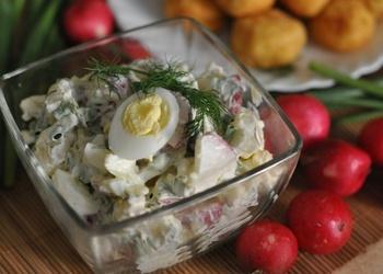 Kartupeļu un olu salāti