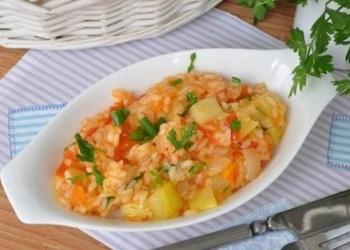 Kabači ar dārzeņiem un rīsiem