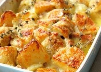 """Krāsnī cepti kartupeļi """"Tartiflett"""""""
