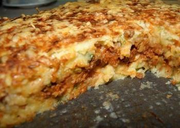 Kartupeļu sacepums ar dārzeņiem, sieru un olām