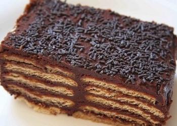 Smilšu cepumu torte ar šokolādi