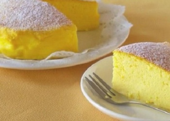 Japāņu kūka - torte no trīs sastāvdaļām