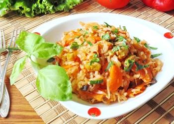 Dārzeņu sautējums ar rīsiem
